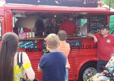 Van at Colchester food festival